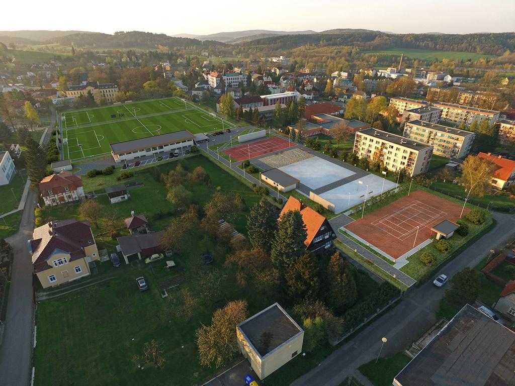 Architektonická studie sportovního areálu města Šluknov
