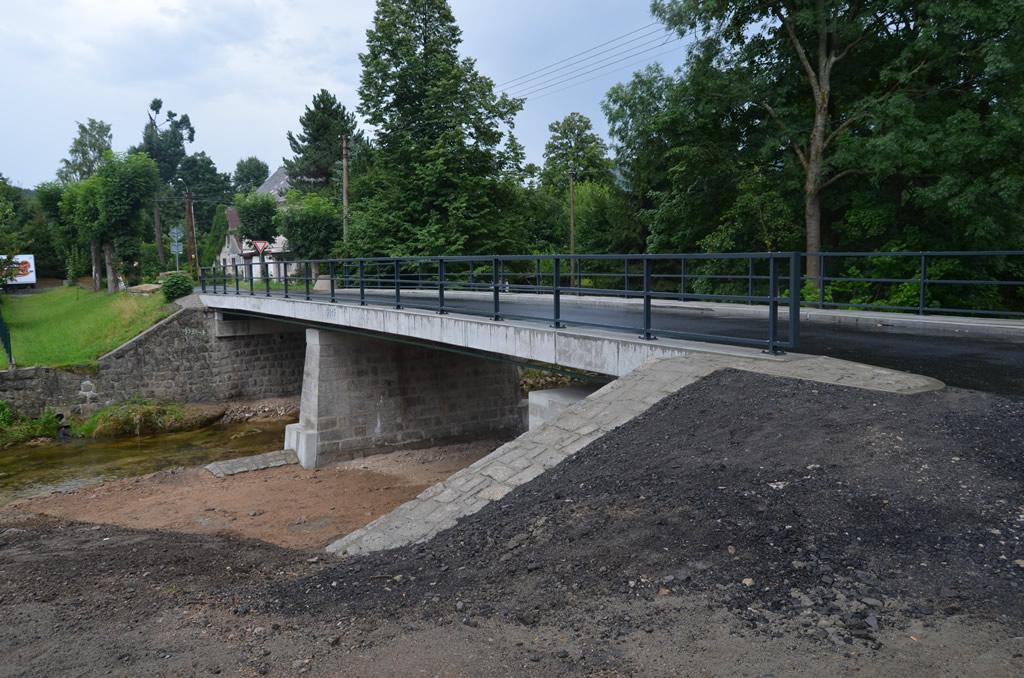 Rekonstrukce mostu u autokempu