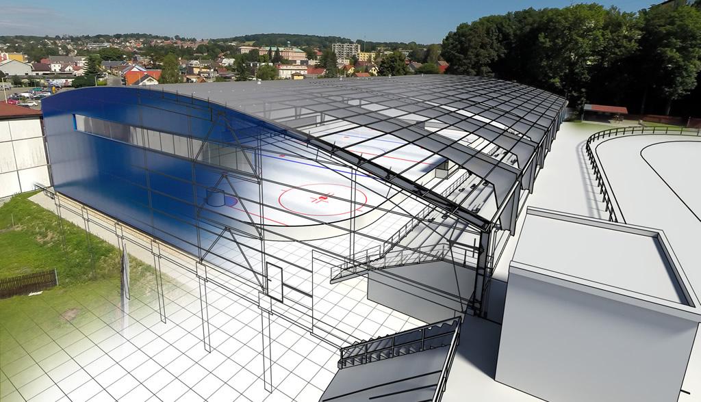 Zastřešení zimního stadionu ve Frýdlantu